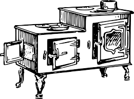 drawing of old style stove